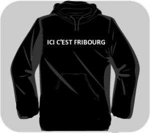 Sweatshirt noir à capuche