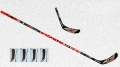 Canne d'hockey MPS Flash Attack black red
